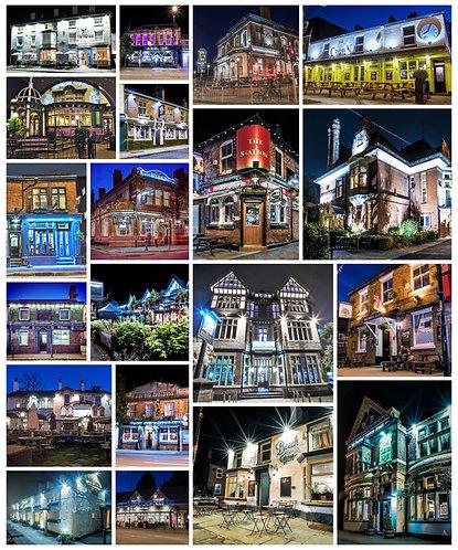 Pubs Montage Portrait (South Manchester)