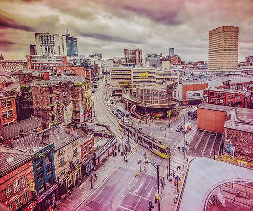 Manchester Skyline Retro Daytime