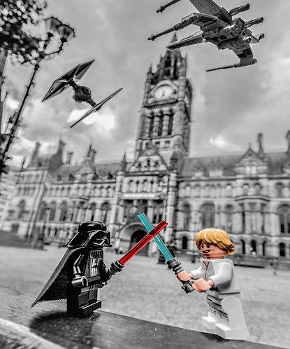 Darth Vader & Luke Skywalker Star Wars 1 - Manchester (Lego Minifigures)