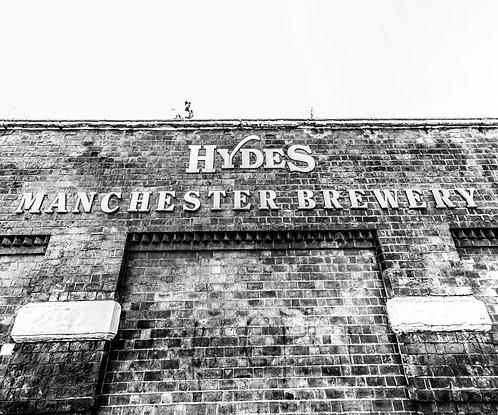 Hydes Manchester Brewery Sign