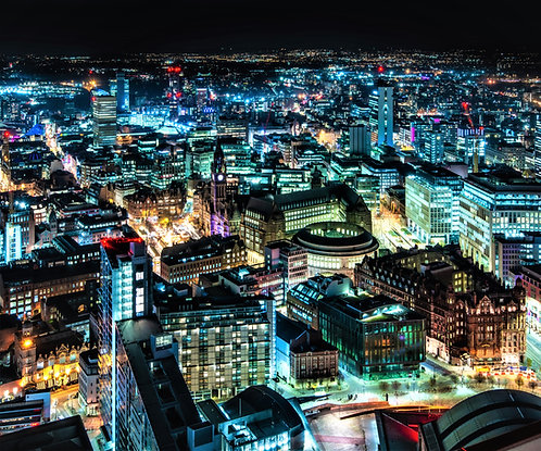 Manchester Skyline City Centre Nights