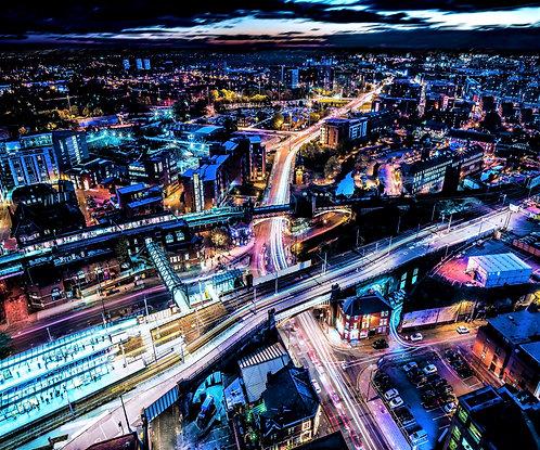 Manchester Skyline Deansgate Nights