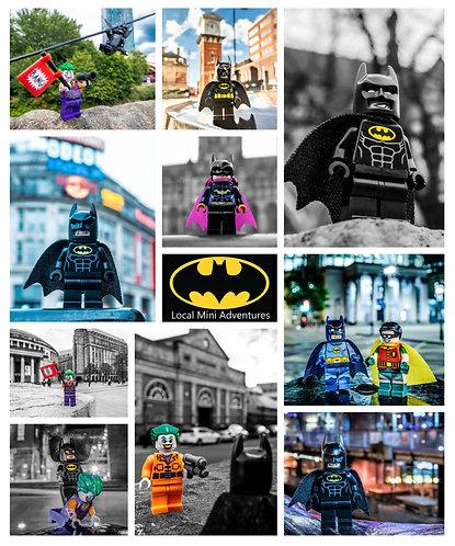 Batman, Joker & Robin Montage - Manchester & Altrincham (Lego Minifigures)