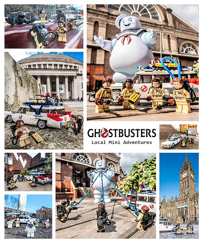 Ghostbusters Montage - Manchester & Altrincham (Lego Minifigures)