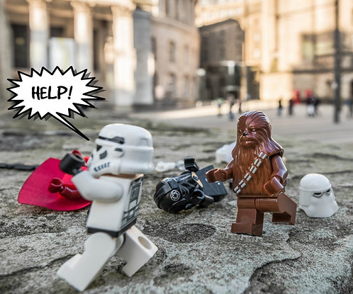 Chewbacca & Storm Trooper Star Wars - Manchester (Lego Minifigures)