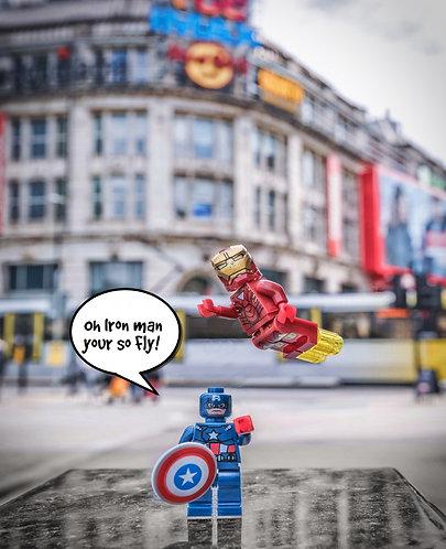 Iron Man & Captain America - Manchester (Lego Minifigures)