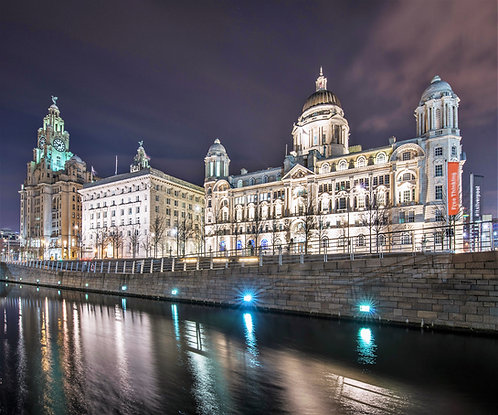 Liverpool 3 Graces at Night