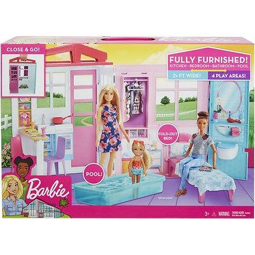 Barbie Σπιτάκι -Βαλιτσάκι  (Mattel FXG54)