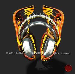 蛾のヘッドフォン