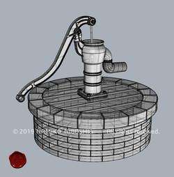 ハエの水汲みポンプ