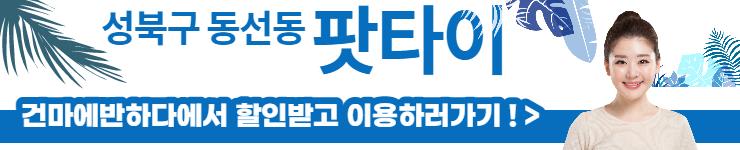 성북구 동선동 팟타이 건마에반하다