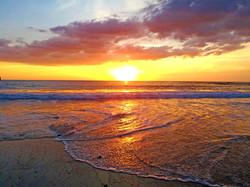Beach sunset Costa rica jungle intimate