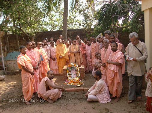 Srila Bishnu Maharaja and devotees
