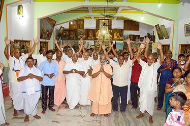 Srila Bishnu Maharaja and Krishna devotees