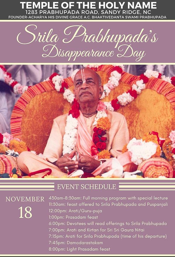 Srila Prabhupada Disappearance DayPV2020
