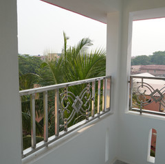 Many rooms also have balconies.