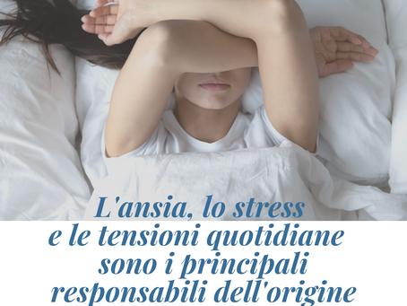 L'ansia, lo stress e le tensioni quotidiane principali responsabili dell'origine dell'insonnia