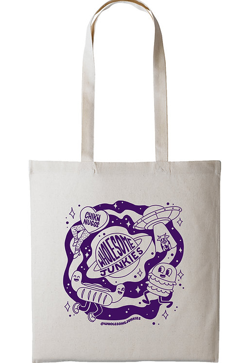 Eco Tote Bag Purple Screen Print
