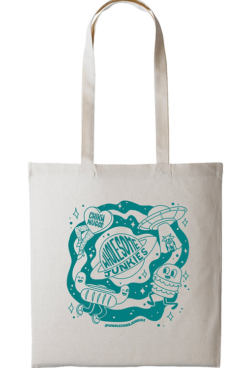 Eco Tote Bag Teal Screen Print