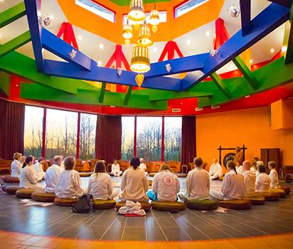 Meditation i Tea House
