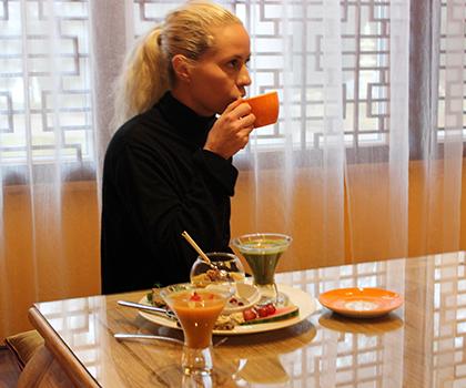 Frukoststund på restaurang Guan Gu