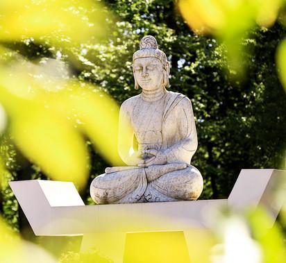 En av flera Buddhas vi får möta här