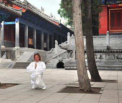 Marcus i ceremoni i Shaolin