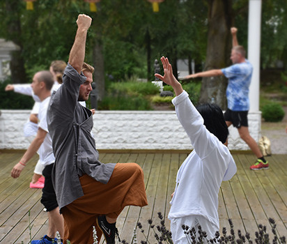 Kung Fu träning på Yangtorp