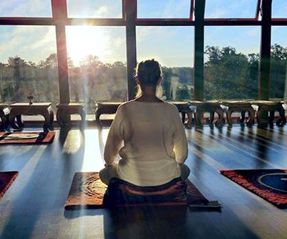 En stund i nuet i Tempel Rui Lin Shi