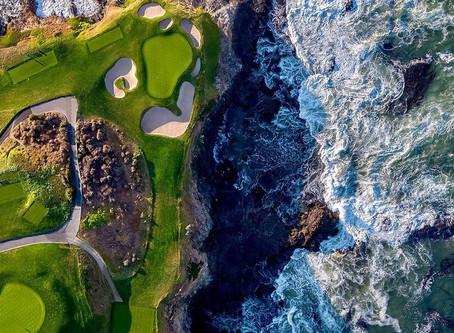 """สนามกอล์ฟติดทะเล """"Pebble Beach Golf Links""""@America"""