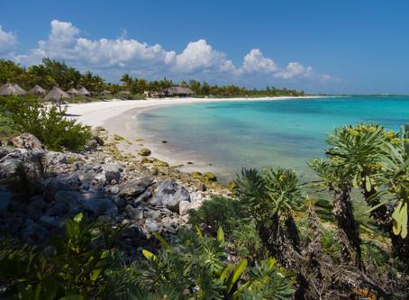 Xpu Ha Beach ชายหาดขาวน้ำทะเลใส @Mexico