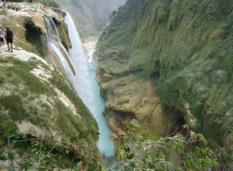 Tamul waterfalls น้ำตกตามูลสีฟ้าเทอร์ควอยซ์ @Mexico