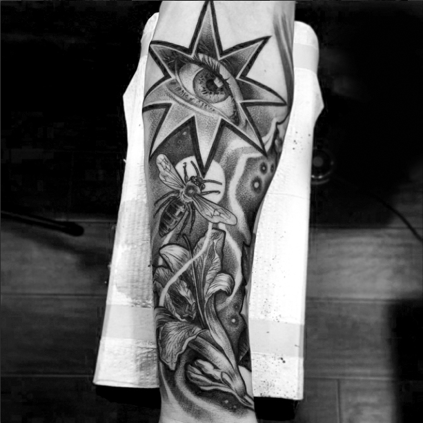 Black and grey tattoo sleeve