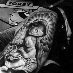 Virgin Mary and Jesus tattoo