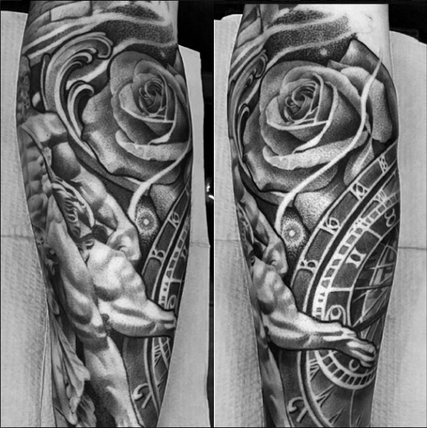 Roses tattoo sleeve