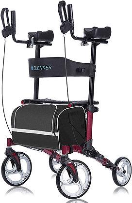 ELENKER Upright Walker, Stand Up Folding Rollator Walker