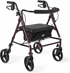 Medline Heavy Duty Rollator Walker with