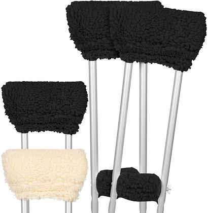 Vive Sheepskin Crutch Pads
