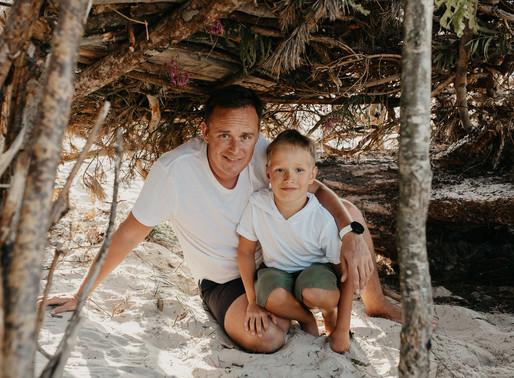 Rodzinna sesja na plaży w Karwi