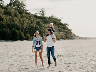 Sesja rodzinna nad morzem w Jastrzębiej Górze