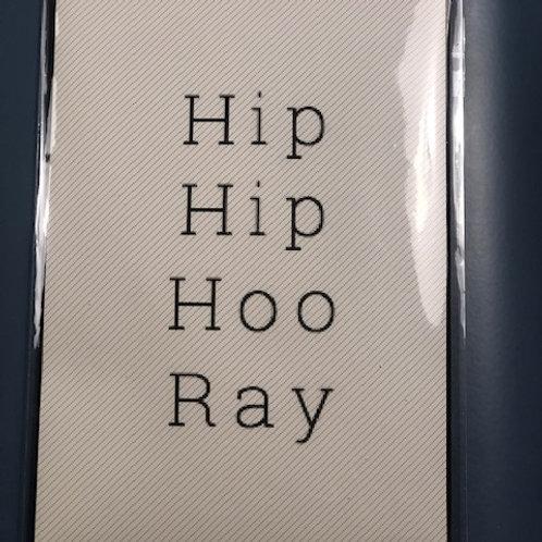 HIP HIP HOO RAY (Geurkaart)