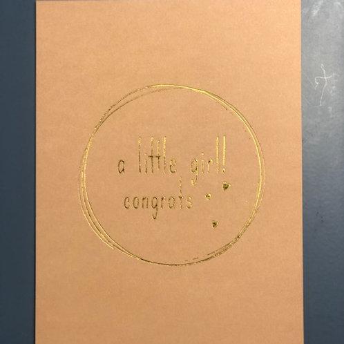 A little girl! congrats