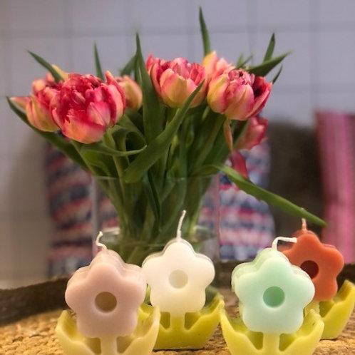 bloem kaars