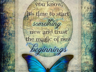 Here's to new beginnings and trusting your gut