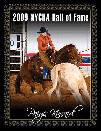 Paige Kincaid, Cutting Horse Trainer, NYCHA , Youth Hall of Fame