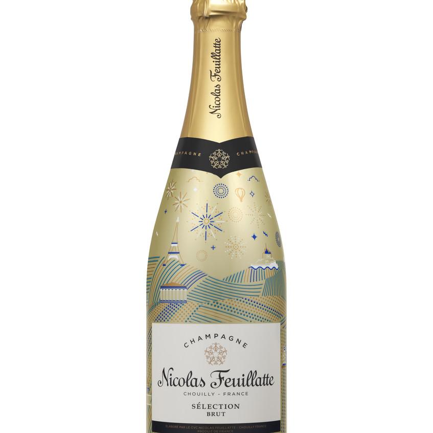 Nicolas Feuillatte - gold Champagne