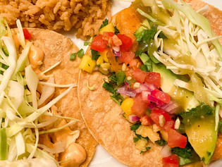 Vegan Fish Tacos with Mango Salsa