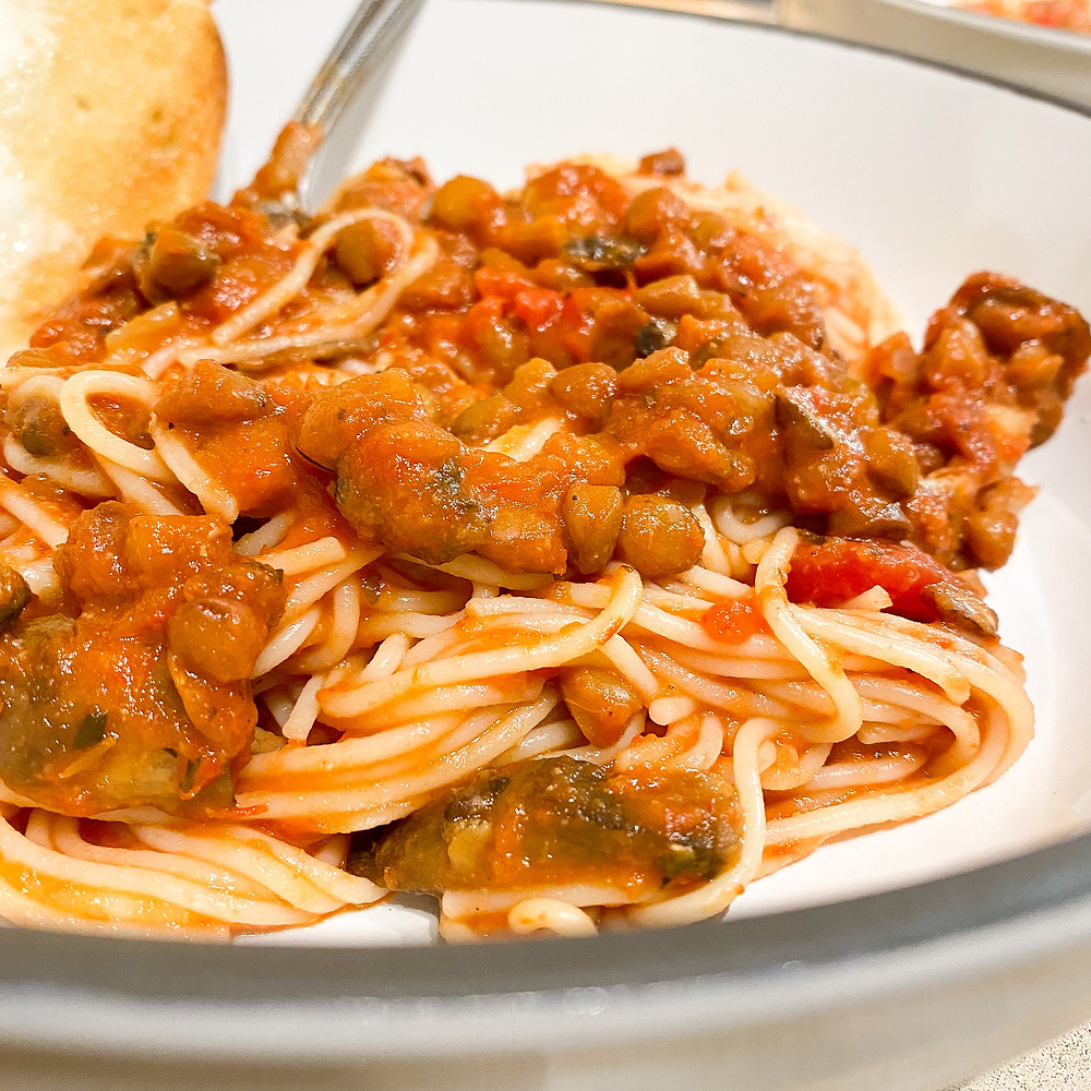 Lentil Mushroom Bolognese