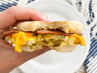 Breakfast Sandwich: Bacon, Egg and Cheese English Muffin
