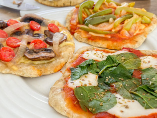 Mini Skillet Flatbread Pizzas
